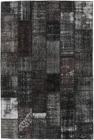 Patchwork Rug 201X303 Authentic  Modern Handknotted Black/Dark Grey (Wool, Turkey)