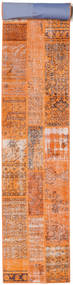 Patchwork Rug 82X600 Authentic  Modern Handknotted Hallway Runner  Orange/Light Brown (Wool, Turkey)
