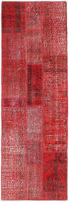 Patchwork Covor 82X248 Modern Lucrat Manual Roșu-Închis/Roşu (Lână, Turcia)