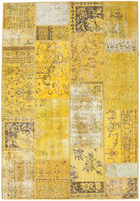 Patchwork Rug 163X236 Authentic  Modern Handknotted Yellow (Wool, Turkey)