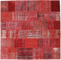 Patchwork Rug 203X205 Authentic  Modern Handknotted Square Crimson Red/Rust Red (Wool, Turkey)