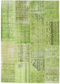 Patchwork Matto 216X229 Moderni Käsinsolmittu Vaaleanvihreä/Oliivinvihreä (Villa, Turkki)