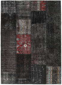 Patchwork Rug 164X229 Authentic  Modern Handknotted Black/Dark Grey (Wool, Turkey)