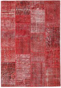 パッチワーク 絨毯 160X232 モダン 手織り 茶/赤 (ウール, トルコ)