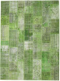 Patchwork Matto 273X371 Moderni Käsinsolmittu Vaaleanvihreä/Tummanvihreä Isot (Villa, Turkki)