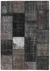Patchwork Alfombra 162X230 Moderna Hecha A Mano Gris Oscuro/Negro (Lana, Turquía)