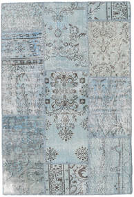 Patchwork Matto 120X179 Moderni Käsinsolmittu Vaaleanharmaa/Vaaleansininen (Villa, Turkki)