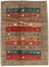 Gabbeh Persia Rug 87X120 Authentic Modern Handknotted Light Brown/Brown (Wool, Persia/Iran)