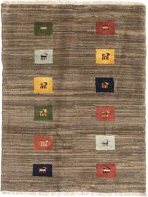 Gabbeh Persia Matto 86X115 Moderni Käsinsolmittu Vaaleanruskea/Ruskea (Villa, Persia/Iran)