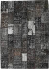 Patchwork Rug 251X356 Authentic  Modern Handknotted Dark Grey/Black Large (Wool, Turkey)