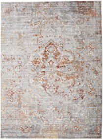 Megrez - Light Grey / Rust rug RVD19452