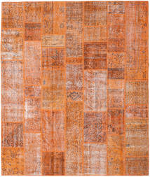 Patchwork Tapis 253X299 Moderne Fait Main Marron Clair/Orange Grand (Laine, Turquie)