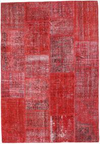 Patchwork Dywan 160X231 Nowoczesny Tkany Ręcznie Czerwony/Rdzawy/Czerwony (Wełna, Turcja)