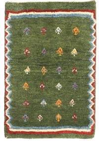 Gabbeh Persisk Matta 58X88 Äkta Modern Handknuten Olivgrön/Mörkgrön (Ull, Persien/Iran)
