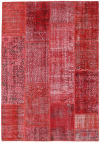 パッチワーク 絨毯 160X230 モダン 手織り 赤/錆色 (ウール, トルコ)