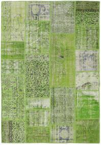 Patchwork Dywan 161X234 Nowoczesny Tkany Ręcznie Jasnozielony/Zielony/Oliwkowy (Wełna, Turcja)