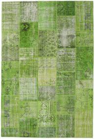 Лоскутные Ковер 201X301 Современный Ковры Ручной Работы Светло-Зеленый/Светло-Зеленый (Шерсть, Турция)