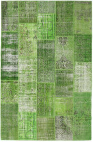 Patchwork Rug 202X311 Authentic  Modern Handknotted Dark Green/Light Green/Green  (Wool, Turkey)