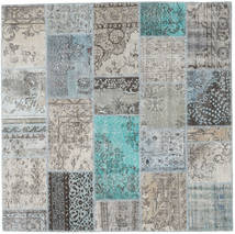 Patchwork Rug 199X201 Authentic  Modern Handknotted Square Light Grey/Dark Grey (Wool, Turkey)