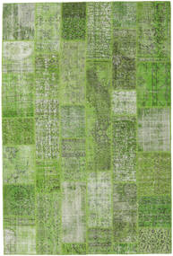 Patchwork Rug 201X300 Authentic  Modern Handknotted Light Green/Dark Green (Wool, Turkey)