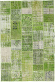 Patchwork Rug 201X302 Authentic  Modern Handknotted Light Green/Dark Green (Wool, Turkey)