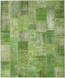 Patchwork Matto 252X300 Moderni Käsinsolmittu Vaaleanvihreä/Tummanvihreä Isot (Villa, Turkki)