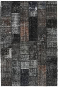 Patchwork Rug 201X303 Authentic  Modern Handknotted Dark Grey/Black (Wool, Turkey)