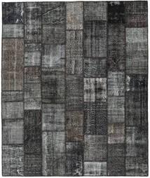 Patchwork Matto 252X300 Moderni Käsinsolmittu Tummanharmaa/Musta Isot (Villa, Turkki)