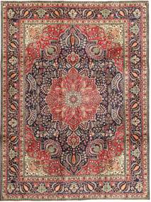 Tabriz Matto 254X340 Itämainen Käsinsolmittu Vaaleanruskea/Tummansininen Isot (Villa, Persia/Iran)