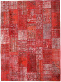 Patchwork Rug 270X367 Authentic  Modern Handknotted Dark Red/Rust Red Large (Wool, Turkey)