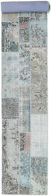 Patchwork Rug 81X603 Authentic  Modern Handknotted Hallway Runner  Light Grey/White/Creme (Wool, Turkey)