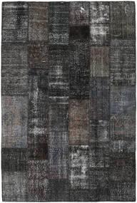 Patchwork Matto 201X301 Moderni Käsinsolmittu Tummanharmaa/Musta (Villa, Turkki)