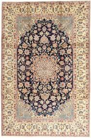 Najafabad Tapete 214X332 Oriental Feito A Mão Castanho Claro/Luz Rosa (Lã, Pérsia/Irão)