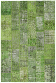 Patchwork Rug 202X303 Authentic  Modern Handknotted Dark Green/Light Grey (Wool, Turkey)