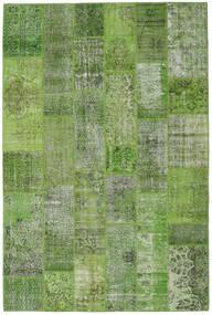 Patchwork Matto 202X303 Moderni Käsinsolmittu Tummanvihreä/Vaaleanharmaa (Villa, Turkki)