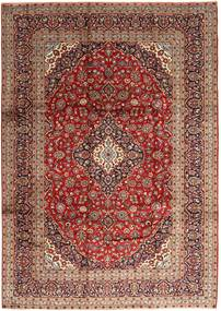 Keshan Rug 247X350 Authentic  Oriental Handknotted Dark Red/Brown (Wool, Persia/Iran)