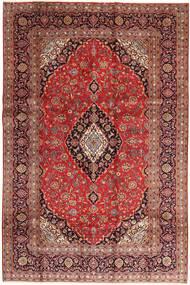 カシャン 絨毯 195X295 オリエンタル 手織り 茶/深紅色の (ウール, ペルシャ/イラン)