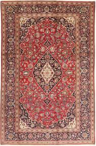 Keshan Matto 200X315 Itämainen Käsinsolmittu Tummanpunainen/Ruskea (Villa, Persia/Iran)