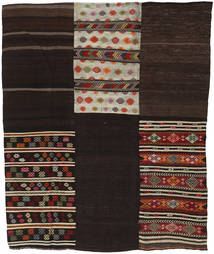 Kilim Patchwork Rug 209X255 Authentic  Modern Handwoven Dark Brown/Light Grey (Wool, Turkey)