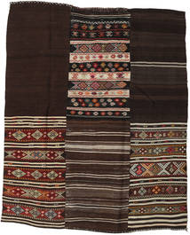 Kilim Patchwork Rug 201X245 Authentic  Modern Handwoven Dark Red/Light Brown (Wool, Turkey)