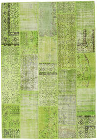 Patchwork Rug 204X298 Authentic  Modern Handknotted Light Green/Olive Green (Wool, Turkey)