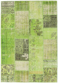 Patchwork Rug 161X232 Authentic  Modern Handknotted Light Green/Olive Green (Wool, Turkey)