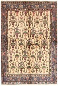 Afshar Matta 158X235 Äkta Orientalisk Handknuten Ljusbrun/Mörkbeige (Ull, Persien/Iran)