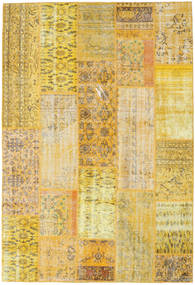 Patchwork Rug 201X295 Authentic  Modern Handknotted Dark Beige/Yellow (Wool, Turkey)
