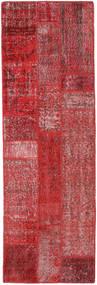 Patchwork Szőnyeg 80X248 Modern Csomózású Sötétpiros/Piros (Gyapjú, Törökország)