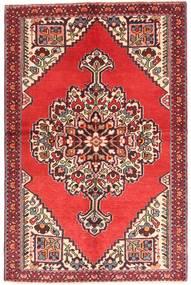 Hamadan Teppich 130X200 Echter Orientalischer Handgeknüpfter Braun/Orange (Wolle, Persien/Iran)