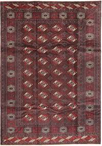 Turkaman Matta 210X300 Äkta Orientalisk Handknuten Mörkröd/Brun (Ull, Persien/Iran)