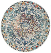 Cheverny - Blue/Cream Rug Ø 200 Modern Round Light Grey/Dark Beige ( Turkey)
