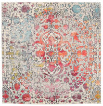 Kaleidoscope - Multi Rug 200X200 Modern Square Light Grey/Dark Brown ( Turkey)