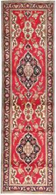 タブリーズ 絨毯 98X372 オリエンタル 手織り 廊下 カーペット 茶/赤 (ウール, ペルシャ/イラン)